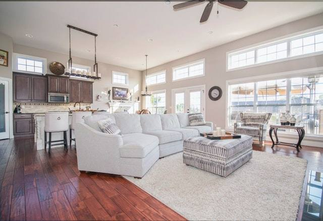 living room with good natural light from large windows
