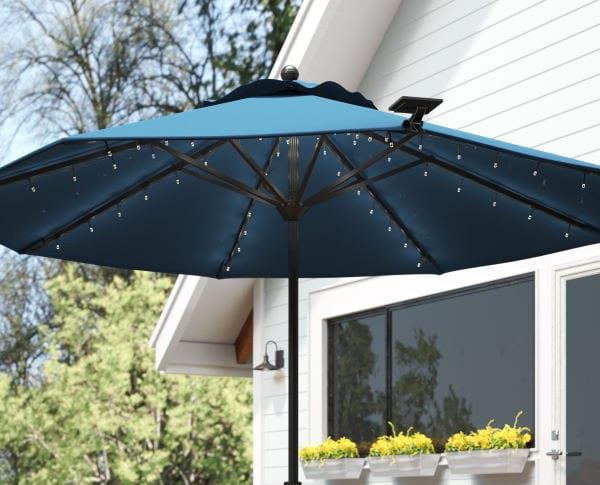 solar umbrella lighting