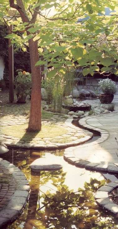 winding patio water feature